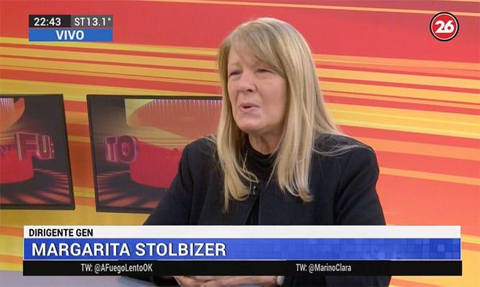 "Margarita Stolbizer entrevistada en el programa ""A fuego lento"", de Clara Mariño y Rubén Rabanal; por ""Canal 26"" – 15/08/2019"